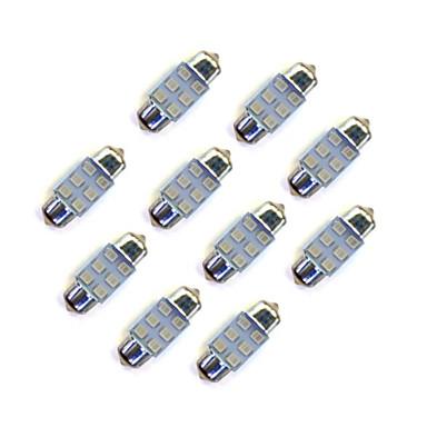 10pcs 31mm 6 * 2835 smd οδήγησε αυτοκίνητο λάμπα φούσκα φωτισμού dc12v