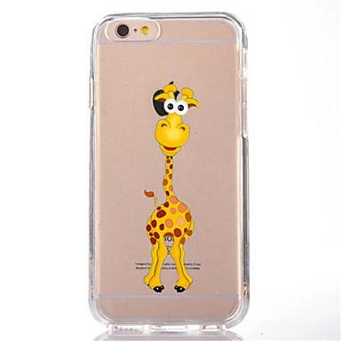 Pentru iphone 7 girafa de desene animate tpu soft ultra-subțire capacul capacului din spate acoperă pentru Apple iphone 7 plus 6s 6 plus