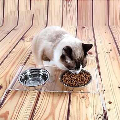 Kat Hond Voerbakken en drinkflessen Voederautomaten Huisdieren Kommen & Voeden waterdicht draagbaar Transparant