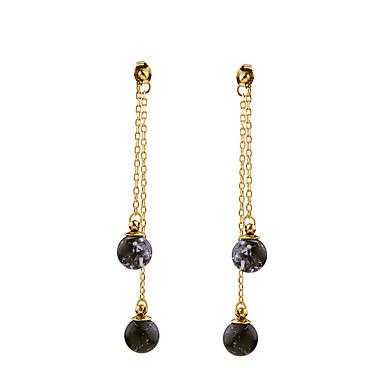 Pentru femei Cercei Stud Cristal Personalizat Euramerican Crom Rotund Bijuterii Negru Inaugurare a unei case Mulțumesc Afaceri Costum de