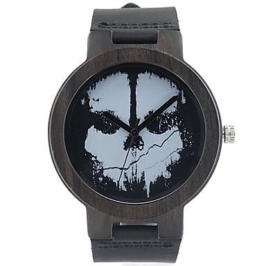 Erkek Moda Saat Bilek Saati Benzersiz Yaratıcı İzle Gündelik Saatler Saat Ahşap Japonca Quartz Japon Kuvartz ahşap Gerçek Deri Bant Lüks