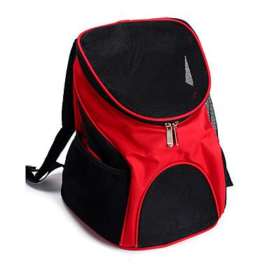 رخيصةأون مستلزمات وأغراض العناية بالكلاب-قط كلب الحاملة حقائب تحمل على الظهر وللسفر حيوانات أليفة حاملات المحمول متنفس لون سادة أحمر أزرق أسود