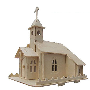 3D-puzzels Legpuzzel Modelbouwsets Kerk (83 Simulatie DHZ Hout Klassiek Kinderen Volwassenen Unisex Geschenk