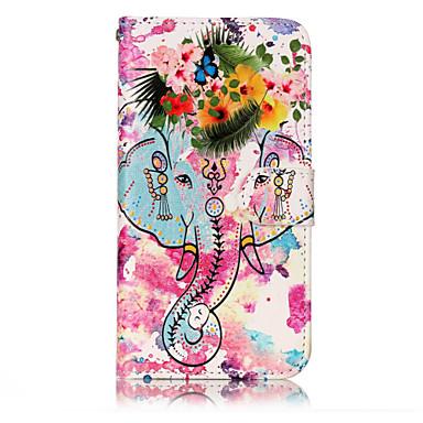 Voor huawei p10 lite p8 lite (2017) pu leer materiaal bloem zoals patroon reliëf telefoon hoesje p10 plus p10 p9 lite p8 lite
