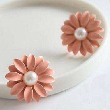 Heren Dames Druppel oorbellen Imitatie Parel Gepersonaliseerde Bloemen Meetkundig Cirkelvormig ontwerp Uniek ontwerp Hangende stijl