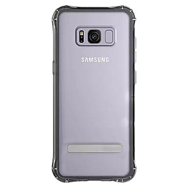 hoesje Voor Samsung Galaxy S8 Plus S8 Schokbestendig met standaard Transparant Achterkantje Effen Kleur Hard TPU voor S8 S8 Plus