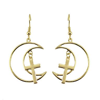 Druppel oorbellen Basisontwerp Hangende stijl Hart Kruis Legering Kruisvorm Haak Sieraden Voor Dagelijks Causaal 1 paar