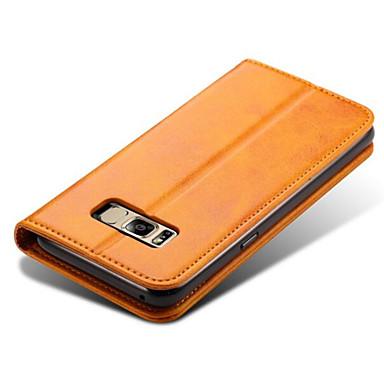 Hülle Für Samsung Galaxy S8 Plus S8 Kreditkartenfächer Geldbeutel mit Halterung Flipbare Hülle Handyhülle für das ganze Handy Volltonfarbe