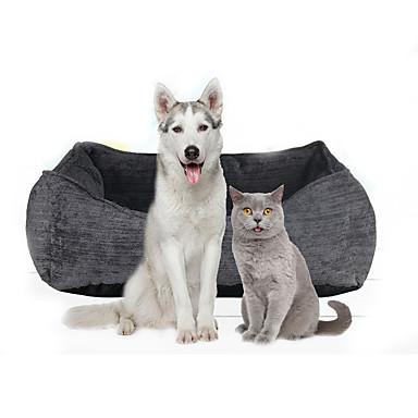 قط كلب الأسرّة حيوانات أليفة الحصير والوسادات سادة ناعم رمادي للحيوانات الأليفة