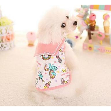 Hond Jurken Hondenkleding Casual/Dagelijks Modieus Prinses Geel Roze