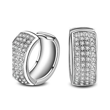 Bărbați Pentru femei Clasic Elegant Euramerican Modă Adorabil stil minimalist Argilă Rotund Geometric Shape Bijuterii Argintiu Cadouri de