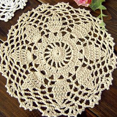 100% bumbac Rotund Tăblițe masă Suporturi de Pahare Floral Decoratiuni de tabla