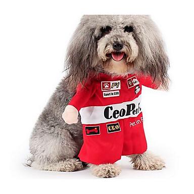 Köpek Kostümler Köpek Giyimi Cadılar Bayramı Sevimli Günlük/Sade Cosplay Mutlu & Gönülsüz Moda Tek Renk Kırmzı Kostüm Evcil hayvanlar için