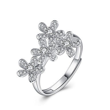 Γυναικεία Δαχτυλίδι Cubic ZirconiaΒασικό Μοναδικό Φύση Γεωμετρικό Φιλία Euramerican Κοσμήματα με στυλ μινιμαλιστικό στυλ Κλασσικά Φλοράλ