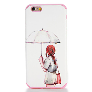 Voor apple iphone 7 7plus case cover patroon achterkant hoesje sexy dame soft tpu 6s plus 6 plus 6s 6