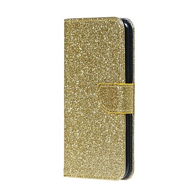 Etui Käyttötarkoitus Samsung Galaxy S8 S7 edge Korttikotelo Lomapkko Tuella Flip Suojakuori Kimmeltävä Kova PU-nahka varten S8 S7 edge