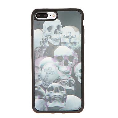 Için Temalı Pouzdro Arka Kılıf Pouzdro Kafatası Yumuşak TPU için AppleiPhone 7 Plus iPhone 7 iPhone 6s Plus iPhone 6 Plus iPhone 6s