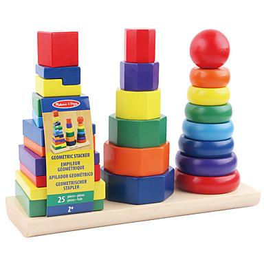 Instrumentul de predare Montessori Lego Jucării Educaționale Jucarii Pătrat Circular Cilindric Turn Educație Lemn Pentru copii 1 Bucăți