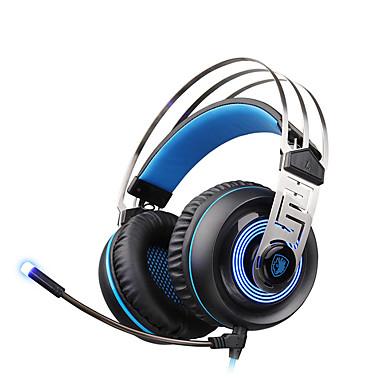 A7 Ponad uchem Opaska na głowę Przewodowy/a Słuchawki Dynamiczny Plastikowy Rozrywka Słuchawka Z kontrolą głośności z mikrofonem Izolacja