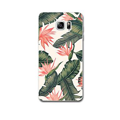 Için Kılıflar Kapaklar Ultra İnce Temalı Arka Kılıf Pouzdro Çiçek Yumuşak TPU için Samsung Note 5 Note 4 Note 3