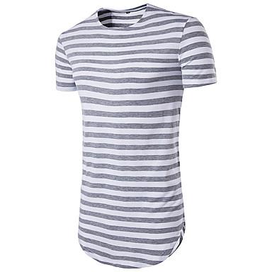 97adb96d1f78 Χαμηλού Κόστους Ανδρικά μπλουζάκια και φανελάκια-Ανδρικά T-shirt Αθλητικά  Βασικό Ριγέ Στρογγυλή Λαιμόκοψη