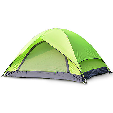 2 الأشخاص خيمة الكاميرا مضاعفة طية خيمة غرفة واحدة خيمة التخييم الألياف الزجاجية أكسفورد مقاوم للماء المحمول-المشي لمسافات طويلة تخييم-
