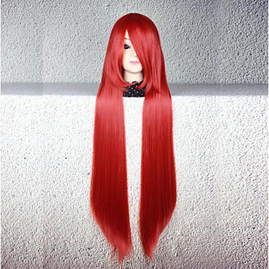 Peruki Cosplay Cosplay Cosplay Długa Prosta Anime Peruki Cosplay 80 CM Włókno termoodporne