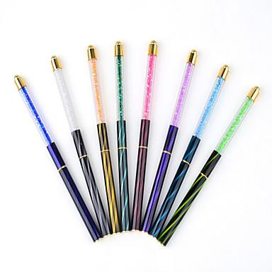 1pc tırnak sanat aracı kedi gözü matkap fototerapi kalem ile kalem boya kalemi çivi renkli çizim veya desen 8 paragraf