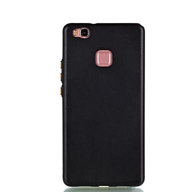 Voor huawei p9 lite p8 lite case cover gladde olie tpu materiaal metalen knop telefoon hoesje