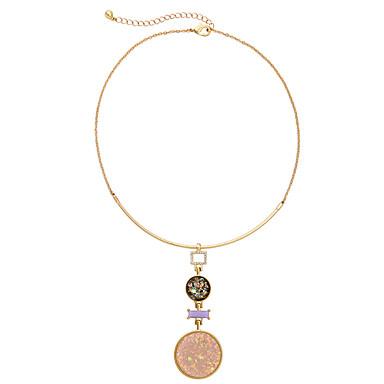 Kadın's Uçlu Kolyeler Round Shape Kişiselleştirilmiş lüks mücevher Gökküşağı Mücevher Için Düğün 1pc