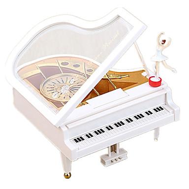 الصندوق الموسيقي ألعاب مربع بلاستيك معدن قطع للأطفال فتيات هدية