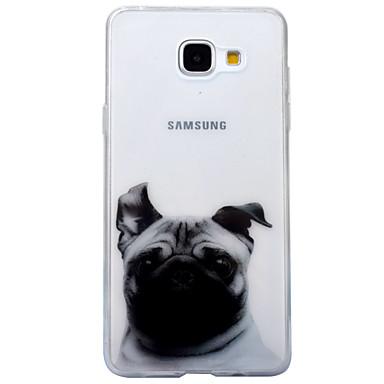 Pouzdro Uyumluluk Samsung Galaxy A5(2017) A3(2017) IMD Şeffaf Temalı Arka Kapak Köpek Hayvan Yumuşak TPU için A3 (2017) A5 (2017)