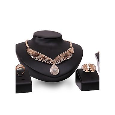 Σετ Κοσμημάτων Στρας Μοντέρνα Πεπαλαιωμένο Εξατομικευόμενο Euramerican κοσμήματα πολυτελείας Κοσμήματα με στυλ Στρας Επιχρυσωμένο Κράμα
