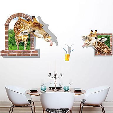 Tiere Mode 3D Wand-Sticker Flugzeug-Wand Sticker 3D Wand Sticker Dekorative Wand Sticker, Papier Haus Dekoration Wandtattoo Wand Glas /