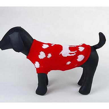 Σκύλος Πουλόβερ Ρούχα για σκύλους Καθημερινά Μοντέρνα Κινούμενα σχέδια Κόκκινο