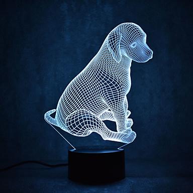 pies żółwie dotykowe ściemnianie 3d led night light 7 kolorowa dekoracja atmosfera lampa nowość oświetlenie światło