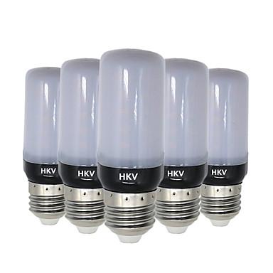HKV 5pcs 5W 400-500lm E14 E26 / E27 أضواء LED ذرة 30 الخرز LED مصلحة الارصاد الجوية 5736 أبيض دافئ أبيض كول 220-240V