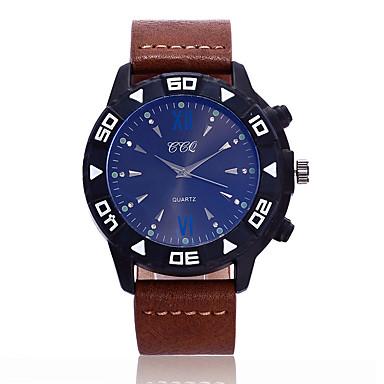 Erkek Bilek Saati Moda Saat Quartz / Büyük indirim Deri Bant Günlük Havalı Siyah Mavi