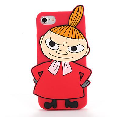Varten kotelot kuoret Kuvio Takakuori Etui 3D piirros Pehmeä Silikoni varten AppleiPhone 7 Plus iPhone 7 iPhone 6s Plus iPhone 6 Plus