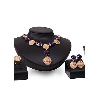 Dames Sieraden Set Multi-steen Bergkristal Gepersonaliseerde Vintage Opvallende sieraden Euramerican Modieus Bruiloft Feest Speciale
