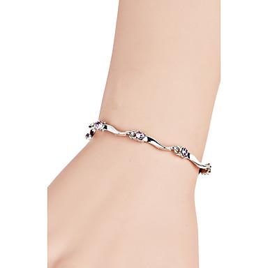 Dames Armbanden met ketting en sluiting Synthetische Diamant Luxe Bohémien Vriendschap Modieus Movie Jewelry Synthetische Edelstenen