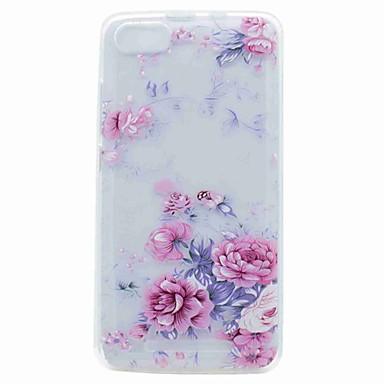 Voor wiko lenny 3 lenny 2 case cover doorschijnend patroon achterkant hoesje bloem zacht tpu hoesje