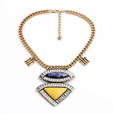 Naisten Säikeet Kaulakorut Triangle Shape Personoitu ylellisyyttä koruja Keltainen Korut Varten Häät 1kpl