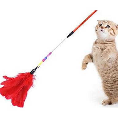 لعبة للقطة ألعاب الحيوانات الأليفة متفاعل مضايقات مضاعف قماش بلاستيك للحيوانات الأليفة