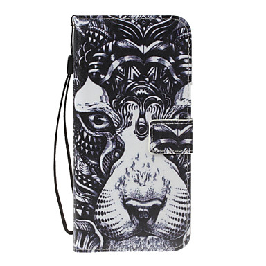 غطاء من أجل Samsung Galaxy A5(2017) A3(2017) محفظة حامل البطاقات مع حامل قلب نموذج كامل الجسم حيوان قاسي جلد اصطناعي إلى A3 (2017) A5
