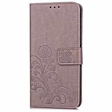 غطاء من أجل Samsung Galaxy J7 Prime J5 Prime حامل البطاقات محفظة مع حامل قلب مطرز غطاء كامل للجسم لون الصلبة قاسي جلد PU إلى On7(2016)