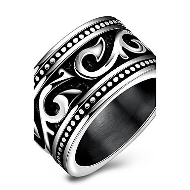 للرجال خاتم فضي الصلب التيتانيوم Circle Shape مخصص تصميم فريد أساسي euramerican في هيب هوب موضة Rock بانغك حزب الذكرى السنوية عيد ميلاد
