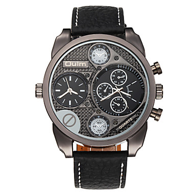 OULM® Men's Watch Military Dual Time Zones Cool Watch Unique Watch
