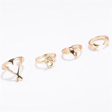 Dames Ring Sieraden Gepersonaliseerde Euramerican Modieus Dagelijks Causaal Geometrische vorm Ringen