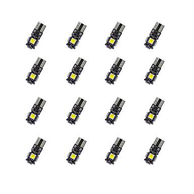 20 stuks t10 5 * 5050smd krijtbord decodering geleid lampje warm licht dc12v
